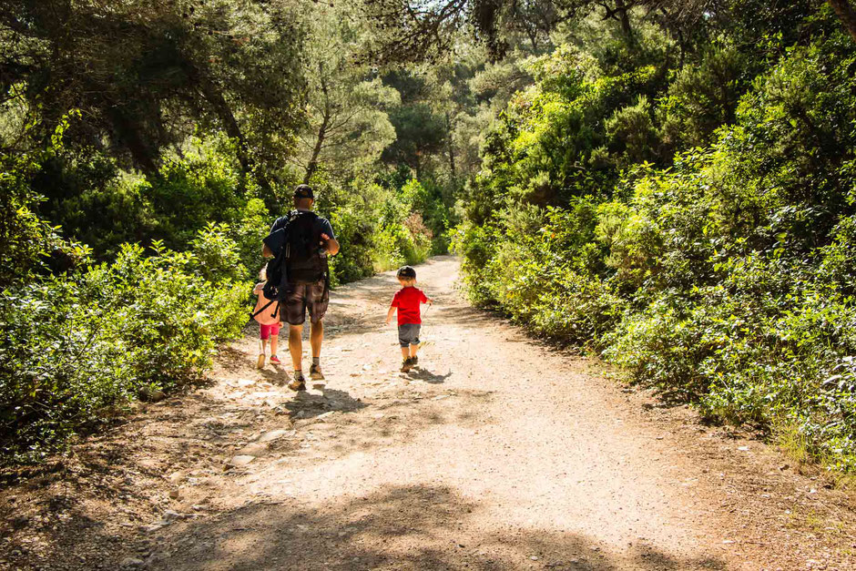 Hike to Peninsula Raznjic on Korcula, Croatia with Kids