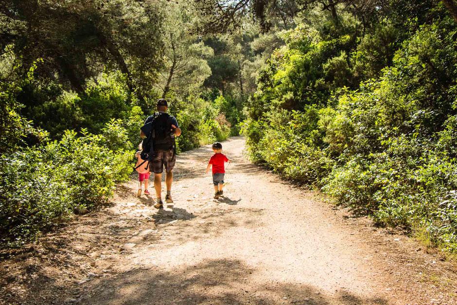 Hike to Peninsula Raznjic on Korcula, Croatia with Kids