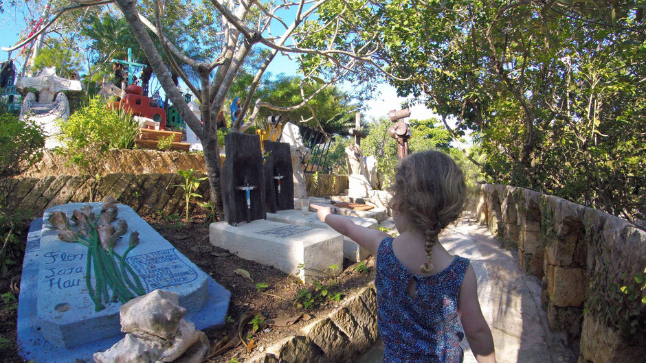 Xcaret with Toddlers - Mexican Cemetery