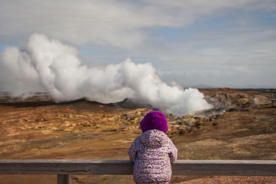 Gunnuhver Geothermal Area near Reykjavik Iceland