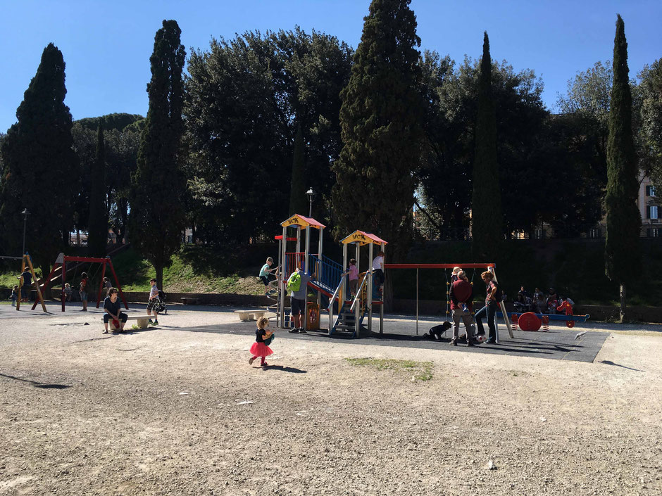 Rome Italy Playgrounds Children