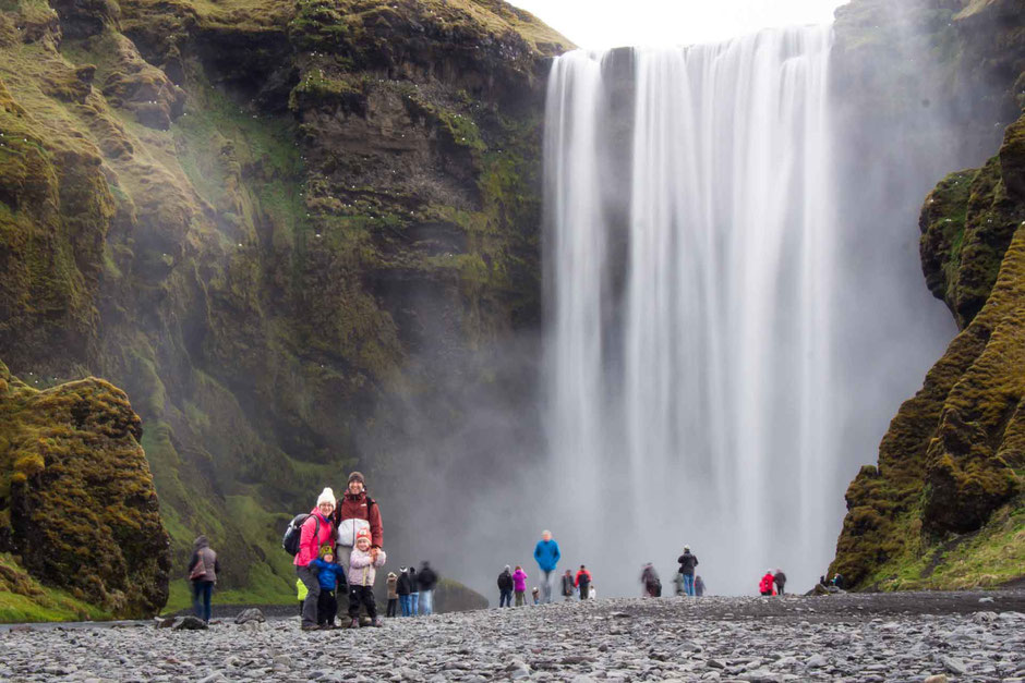 Skogafoss Waterfall and Hike with Small Kids
