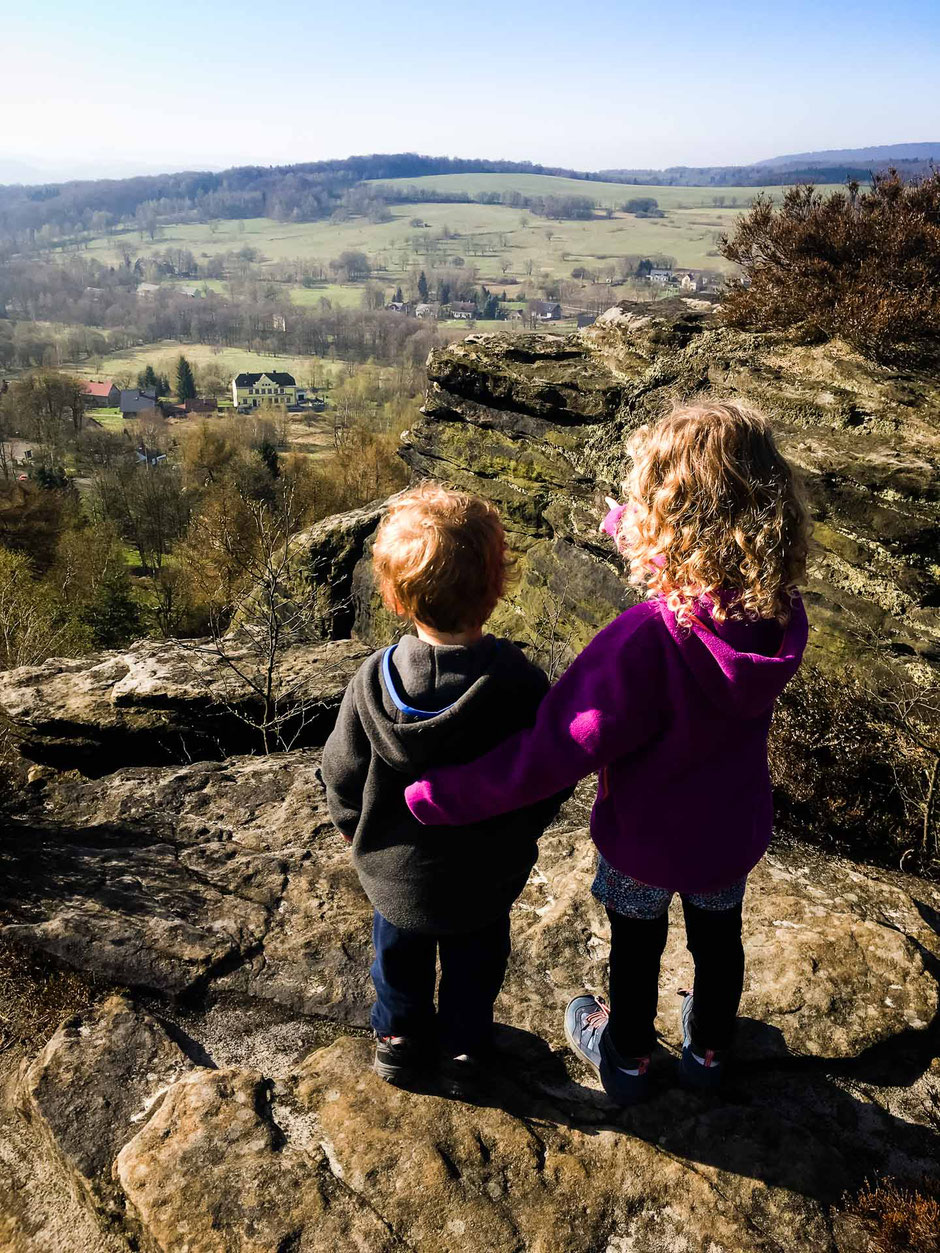View from Tisa Walls in Bohemian Switzerland with Kids