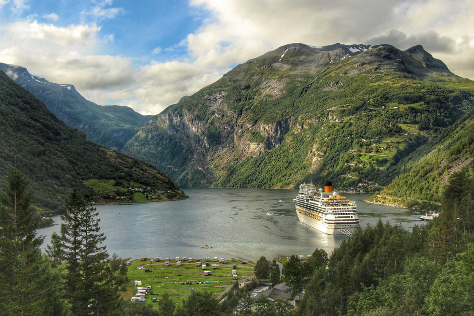 View of Geirangerfjord Norway