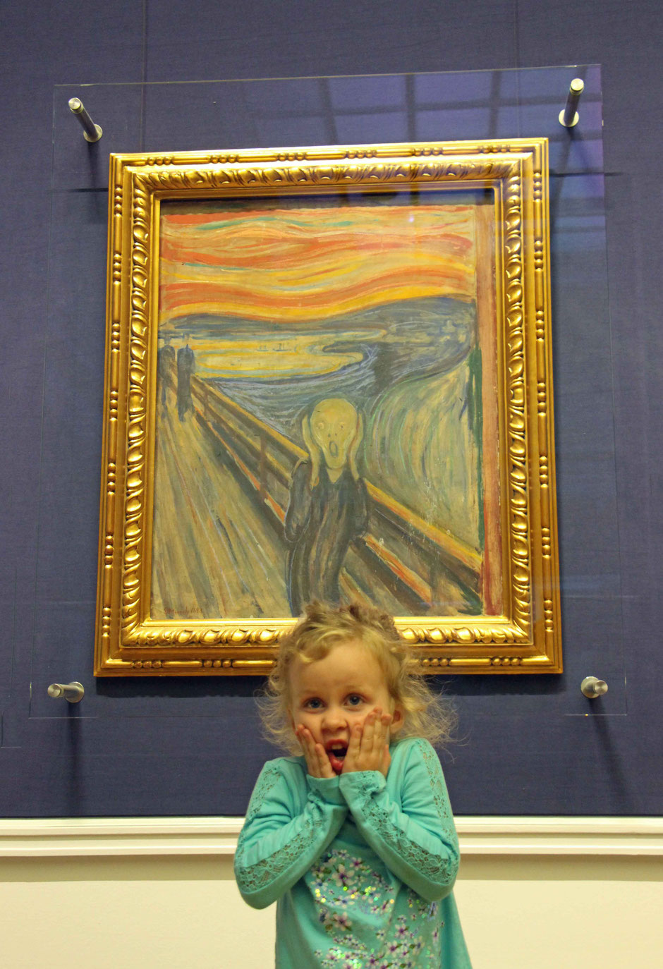 Scream painting at National Gallery Oslo Norway