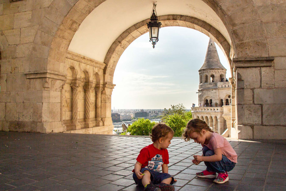 Fisherman's Bastion Budapest with small children