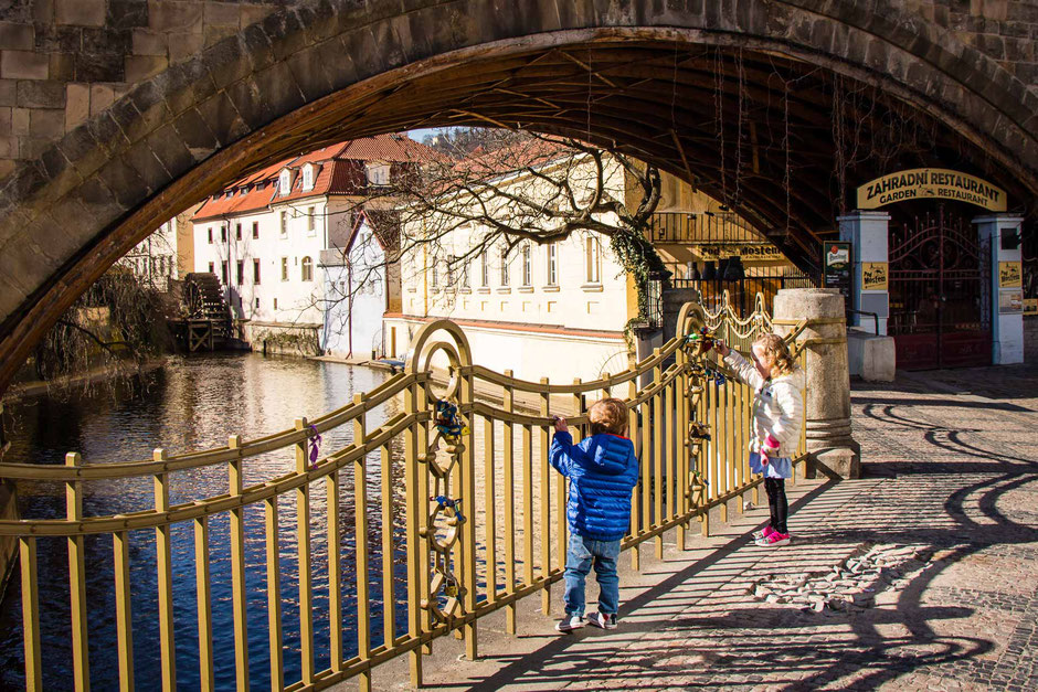 Kampa Island Prague with kids