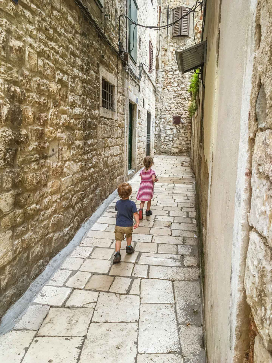 Exploring the streets of Split Croatia with Kids