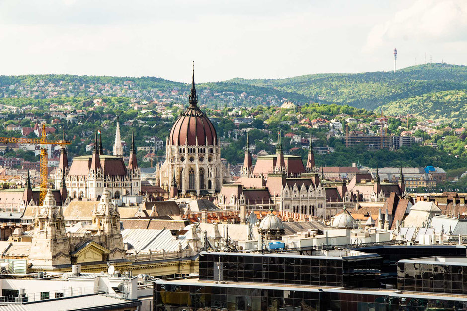 View from the bell tower in Budapest