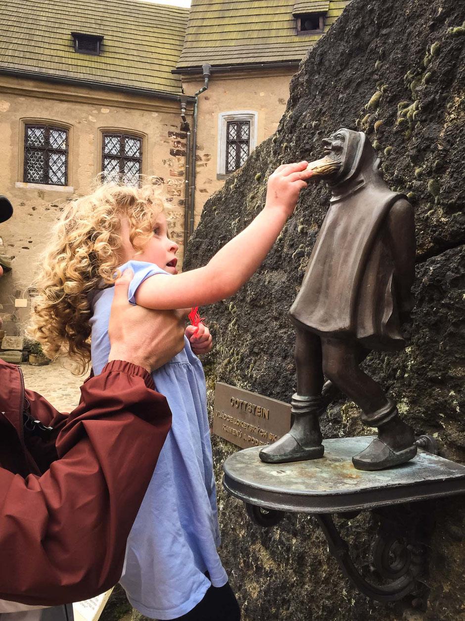 Castle in Loket Czech Republic with Children