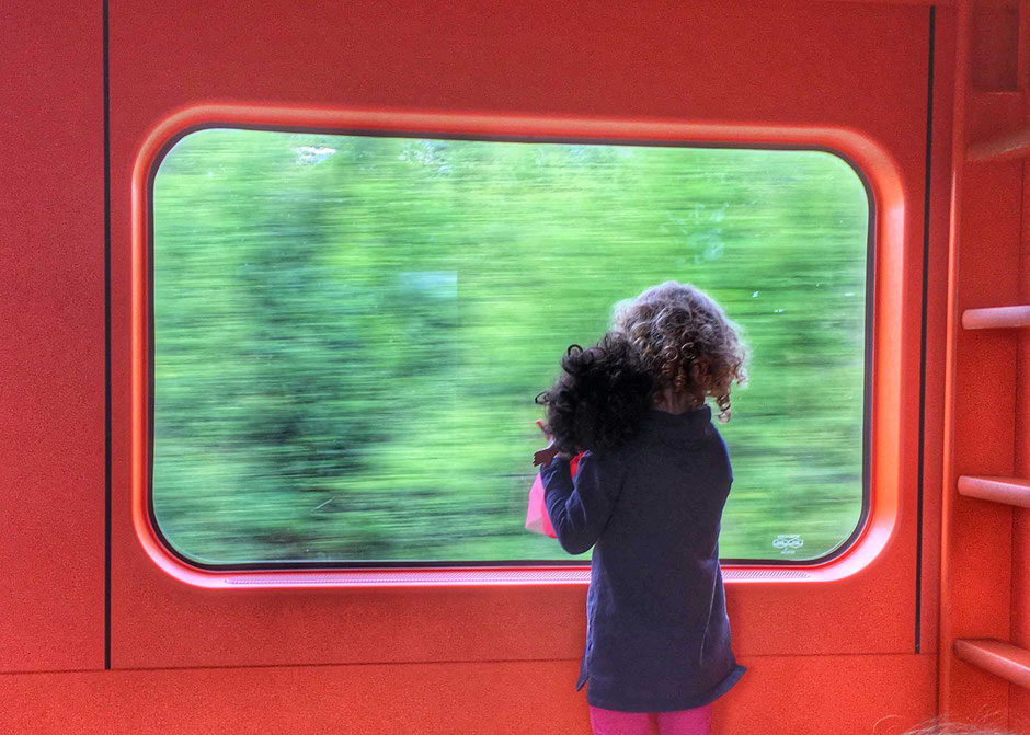 Bergen railway with kids