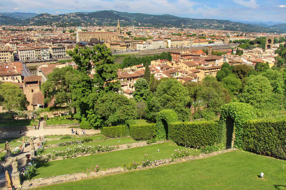 View of Florence Italy from Giardino Bardini