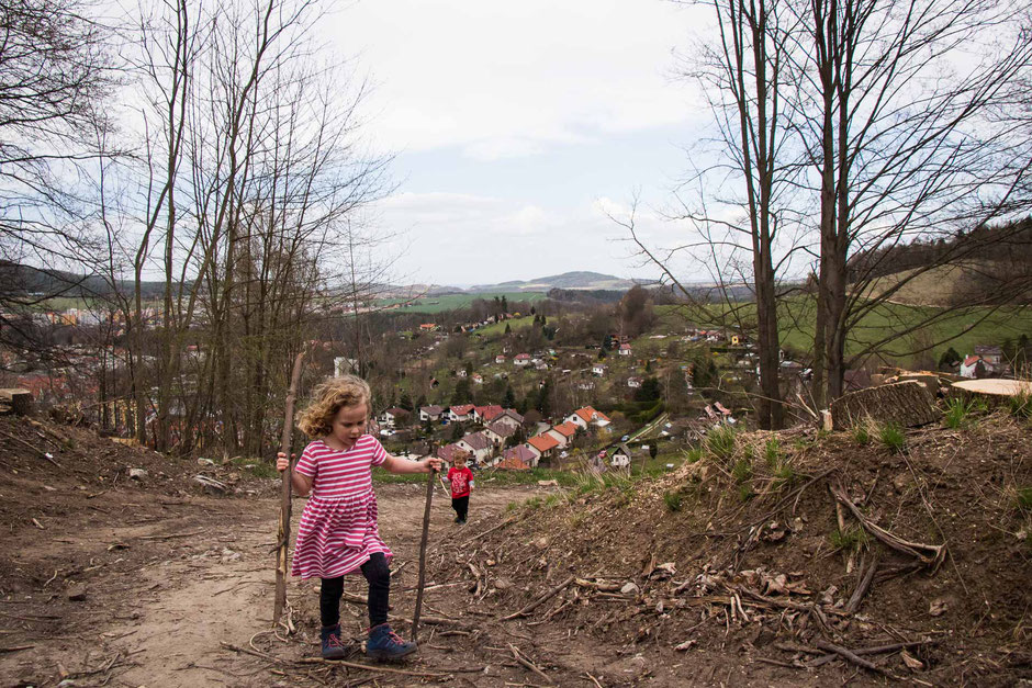 Hiking to Krizova Hora with Kids in Cesky Krumlov