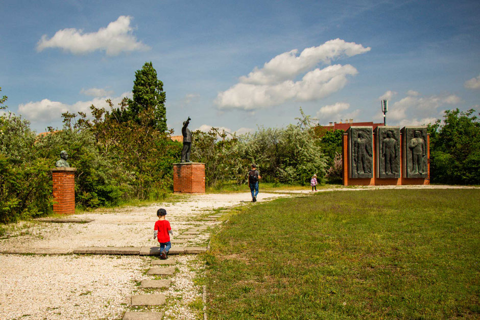 Memento Park Budapest with children