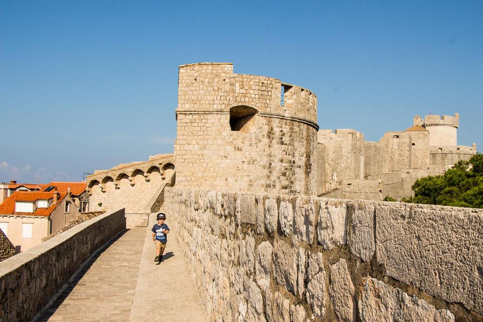 Walking the City Walls in Dubrovnik Croatia with Kids