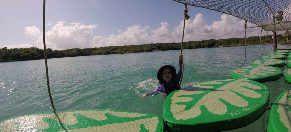 How to Have an Unparalleled Day at Xel-Ha, Mexico - Some Wet Fun on the Lily Pads in Children's World