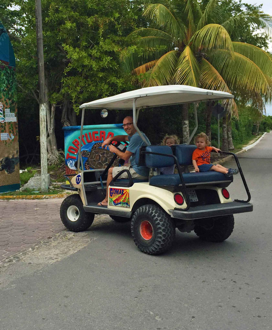 A Day of Exciting Family Fun on Isla Mujeres - Golf Cart Rental