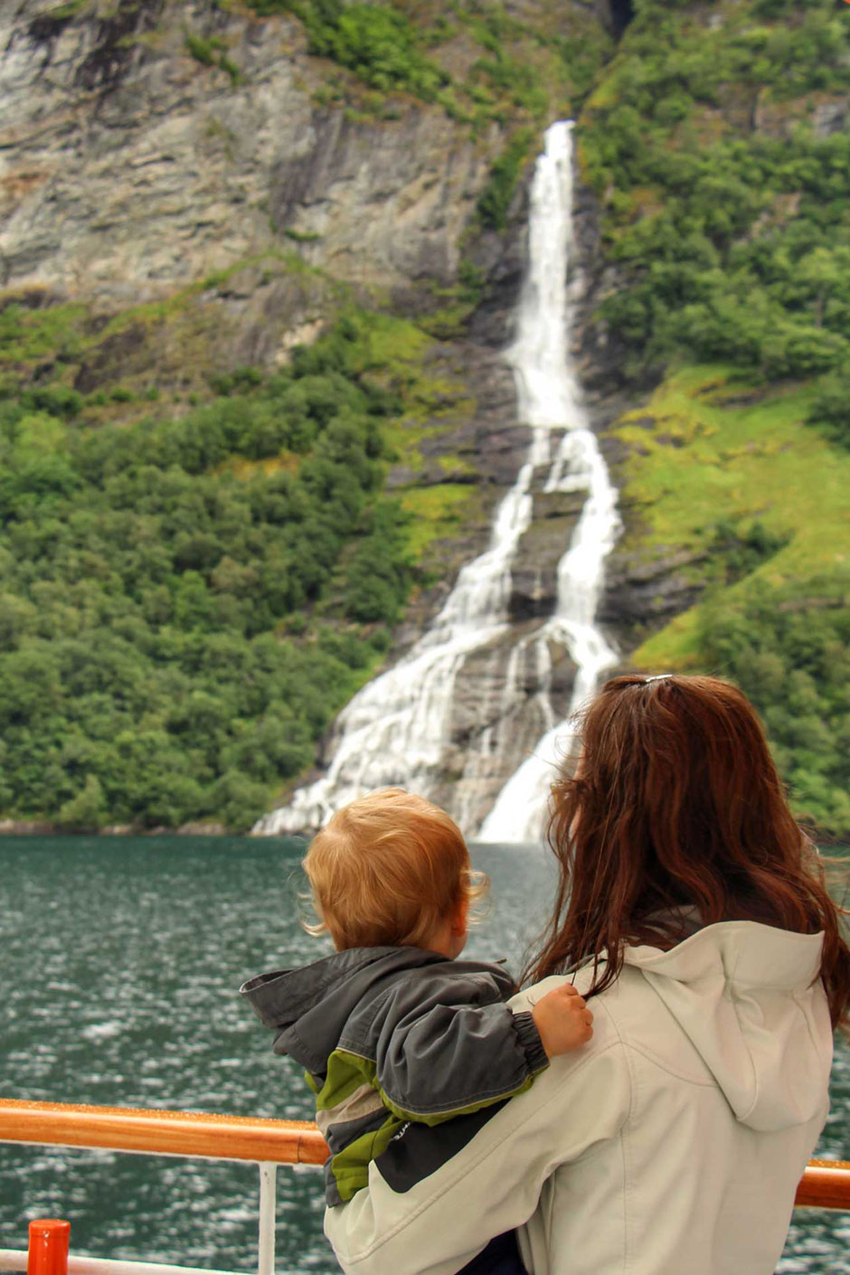 Hurtigruten voyage Alesund to Geirangerfjord with waterfall views