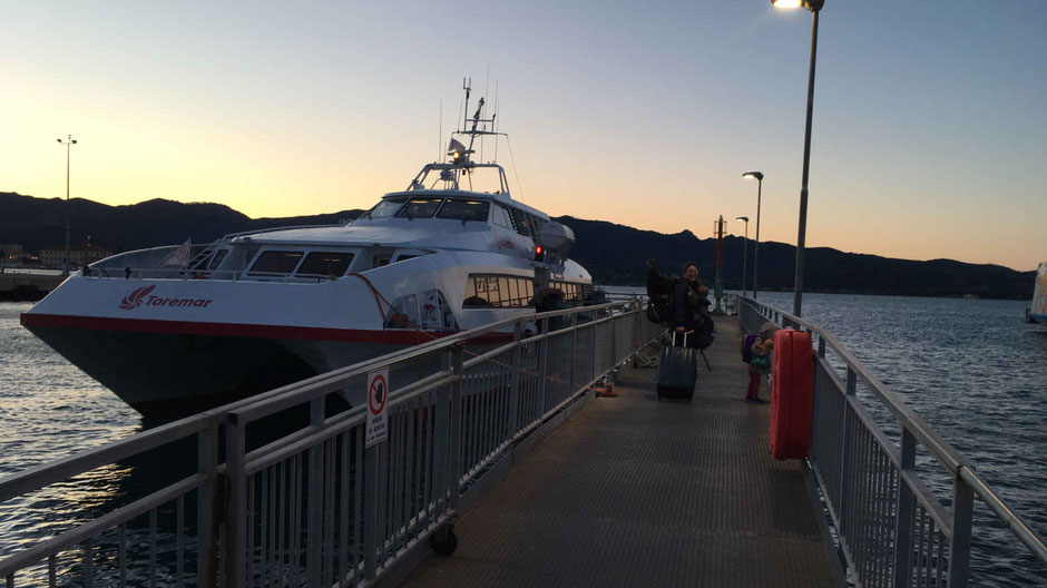 Early morning ferry back to the mainland - Portoferrario to Piombino