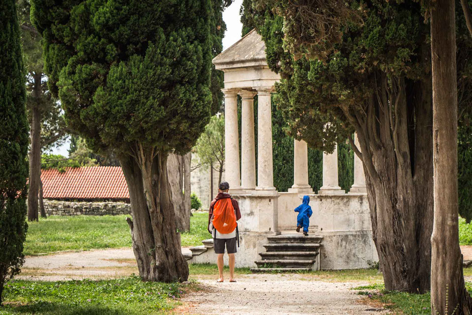 Sustipan Park Split Croatia with toddler