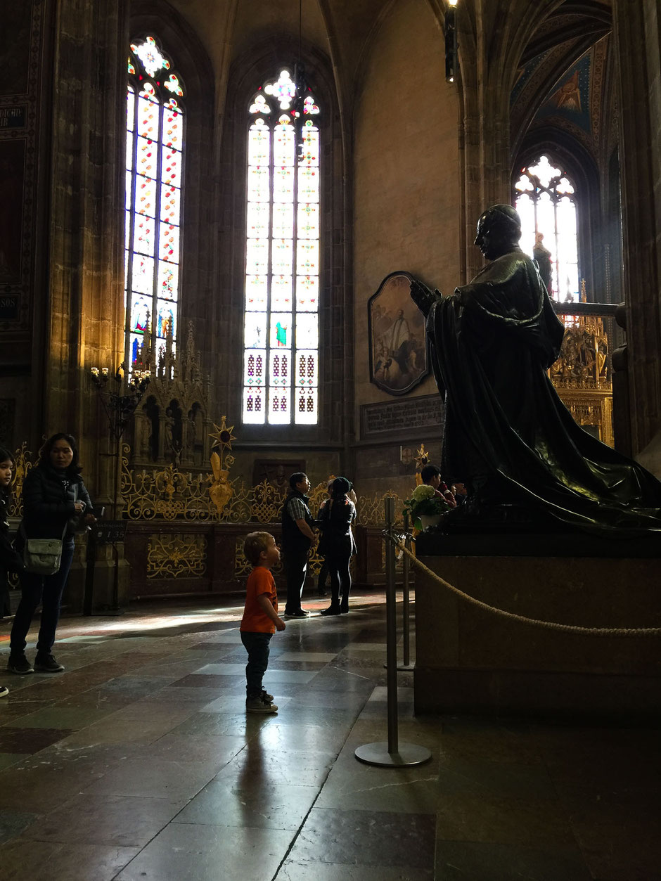 St. Vitus Cathedral in Prague with kids
