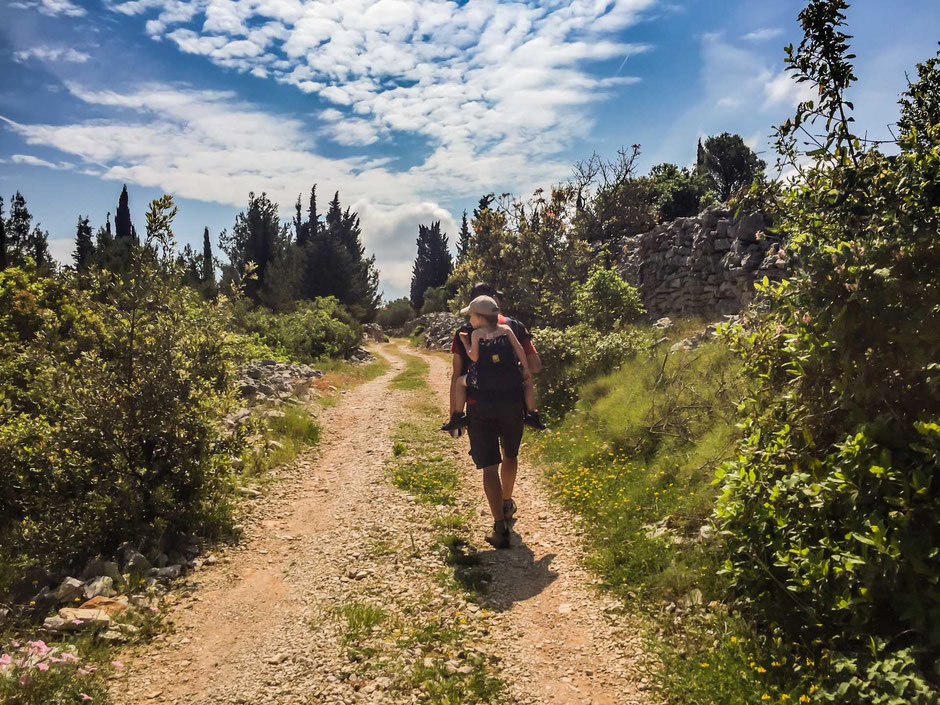 Hiking with kids Korcula, Croatia