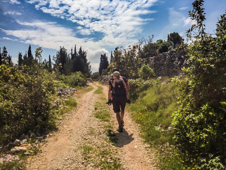 Hiking with kids Korcula, Croatia
