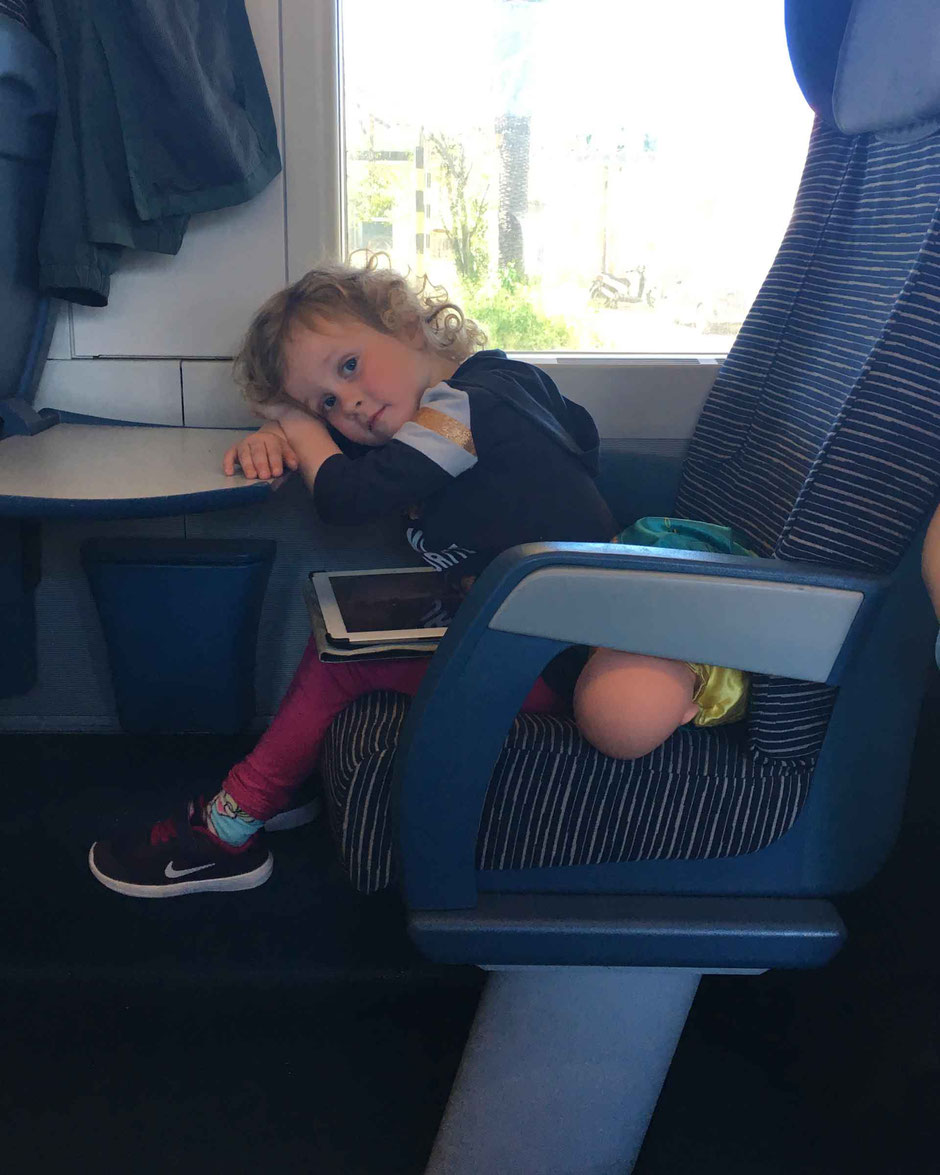 Are we there yet?  Train travel with preschooler in Italy