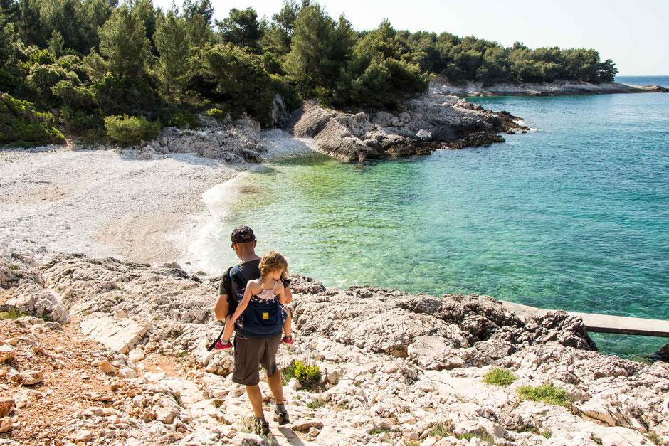 Beach Hvar Croatia with Kids