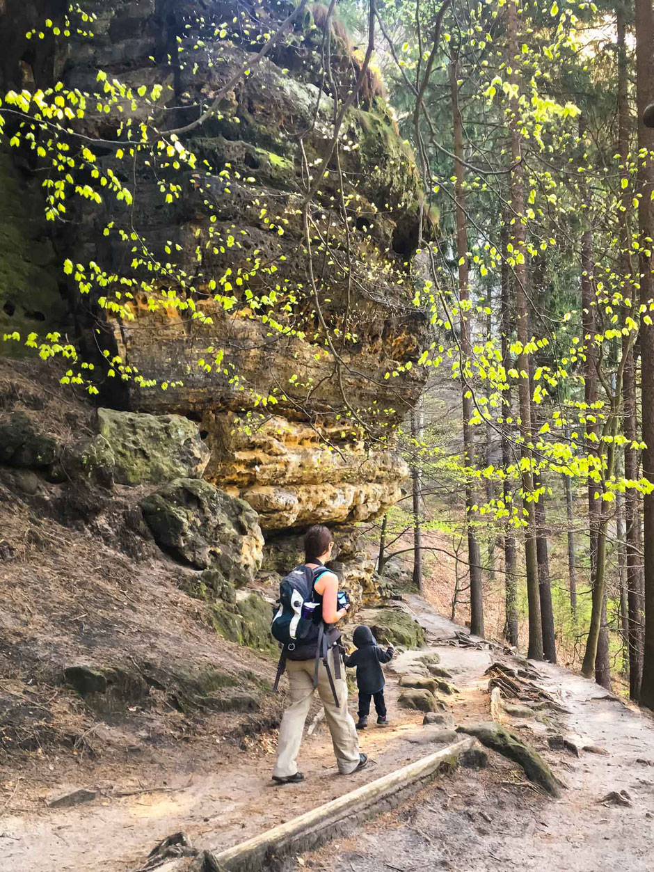 Hiking to Pravcicka Brana with a toddler in Bohemian Switzerland