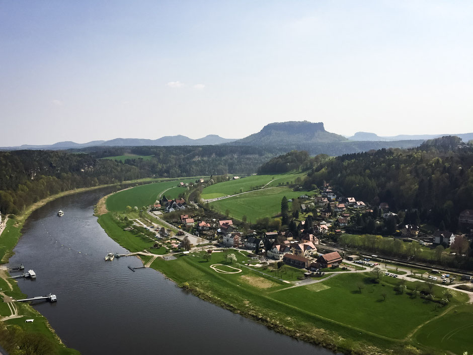 View of Saxon Switzerland in Germany