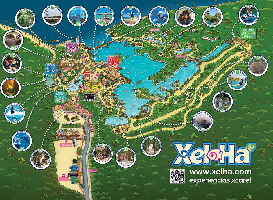 How to Have an Unparalleled Day at Xel-Ha, Mexico - Park Map
