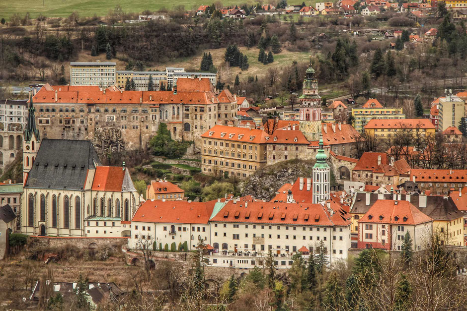 View of Cesky Krumlov from Krizova Hora