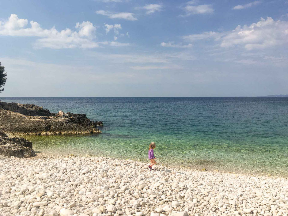 Mekicevica Beach Hvar Croatia with Kids
