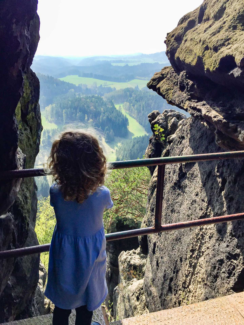 View from Mary Prospect in Bohemian Switzerland