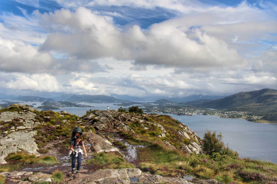 Hiking Sukkertoppen in Alesund Norway