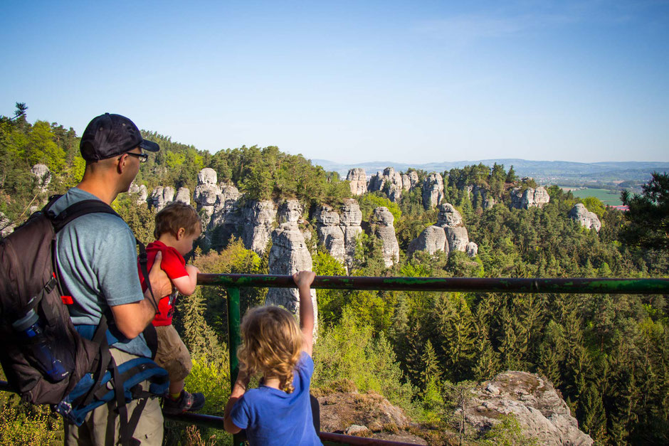 View of the Band rock formations in Bohemian Paradise