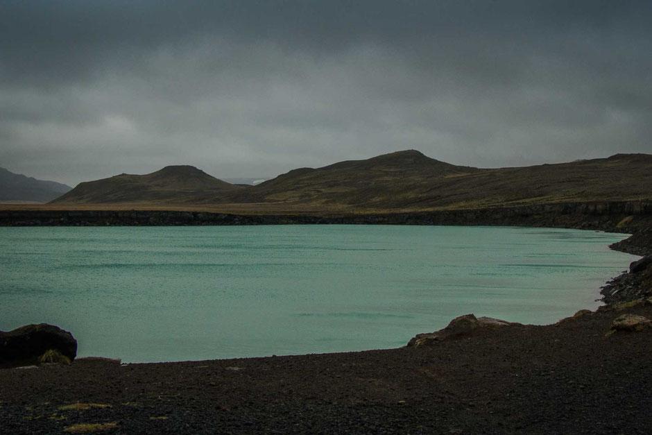 Gígvatnsvatn Lake in Reykjanesfólkvangur Nature Preserve near Reykjavik Iceland