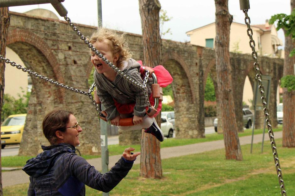 Playground at Giardini Solarino in Pisa Italy