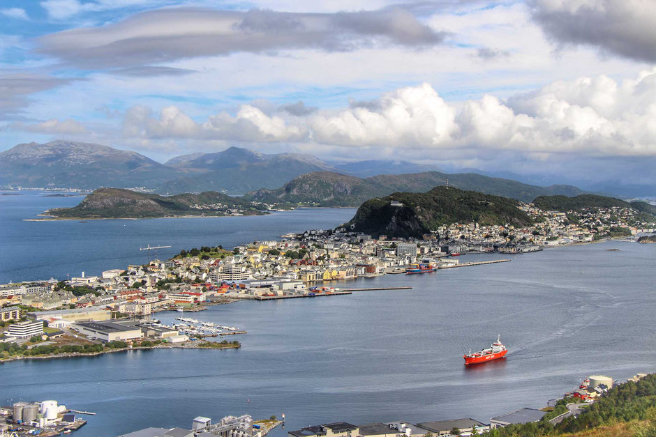 View of Alesund Norway