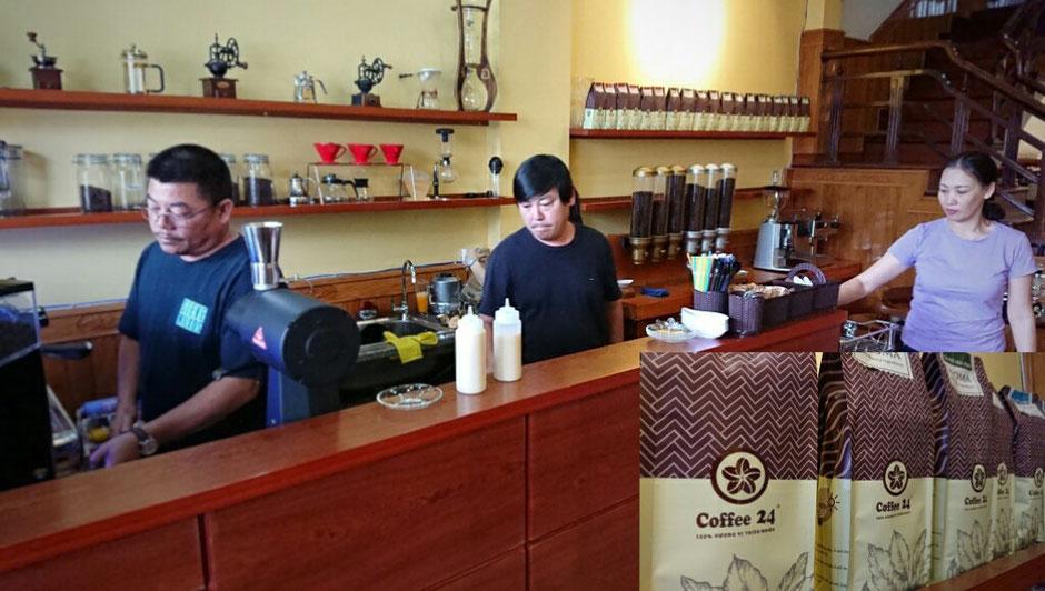 Erkundungstour - zentrales Hochland  - Vietnam – Erkundungstour – Ly und Heiko – Viethouse – Kaffee – Kaffeebohnen – Ernte – Produktion – Herstellung – Kaffeeladen - Kaffeeshop - Kaffeemaschine