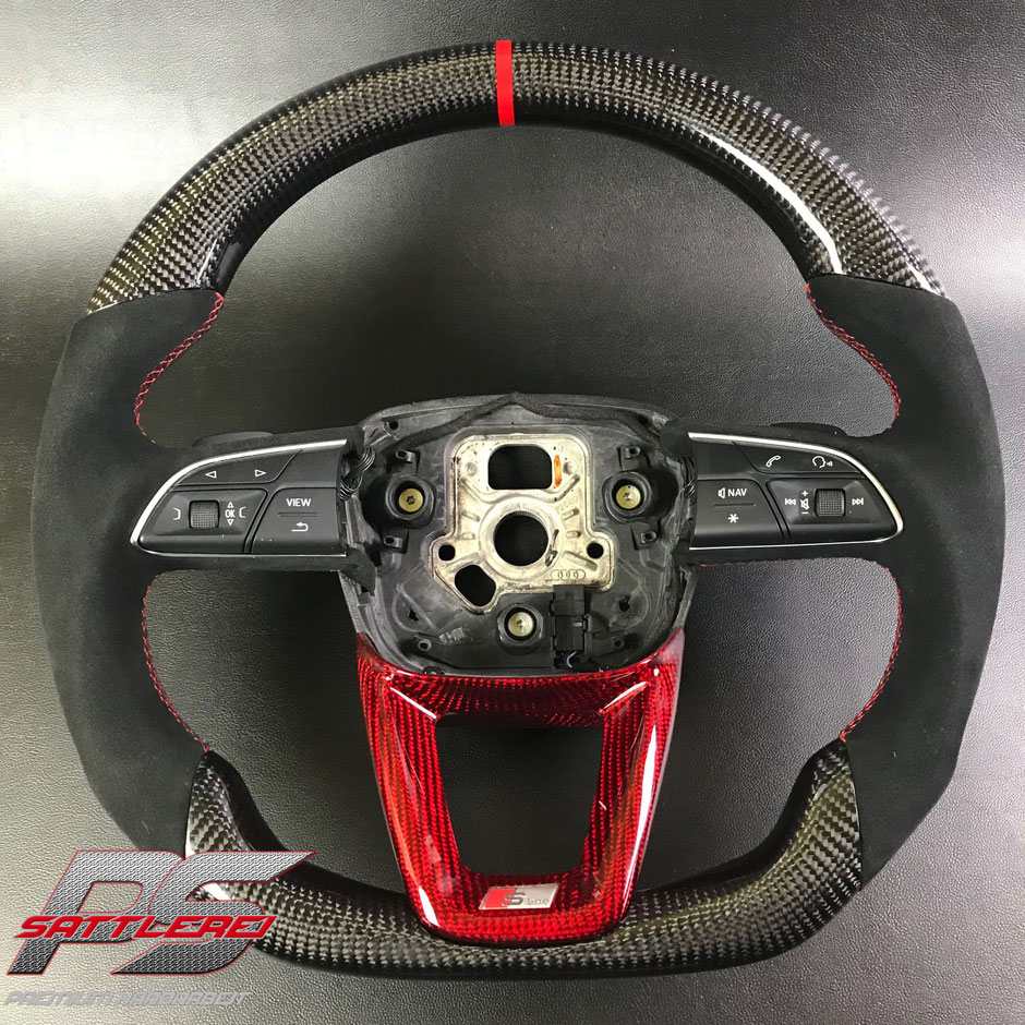 Audi SQ7 Red Carbon Steering wheel