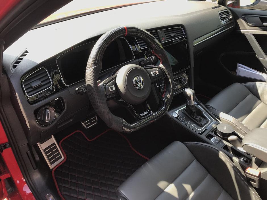 Golf 7R GTI Leder Fußmatten