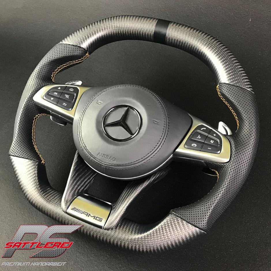 Mercedes C63S GTC Carbon Matt Lenkrad