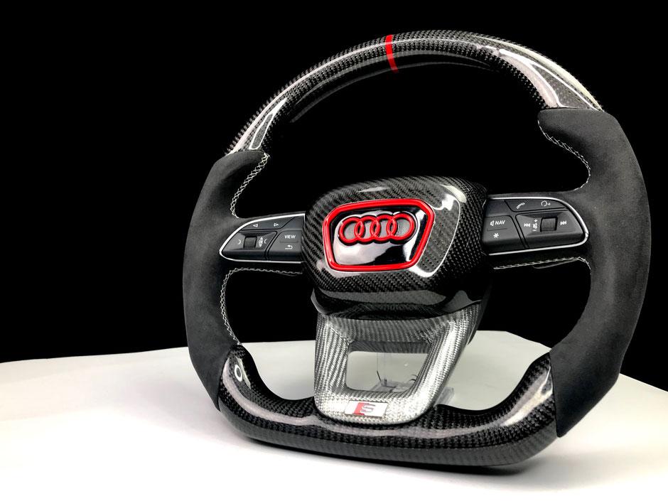 Audi SQ7 Q8 Carbon Lenkrad und carbon Airbag