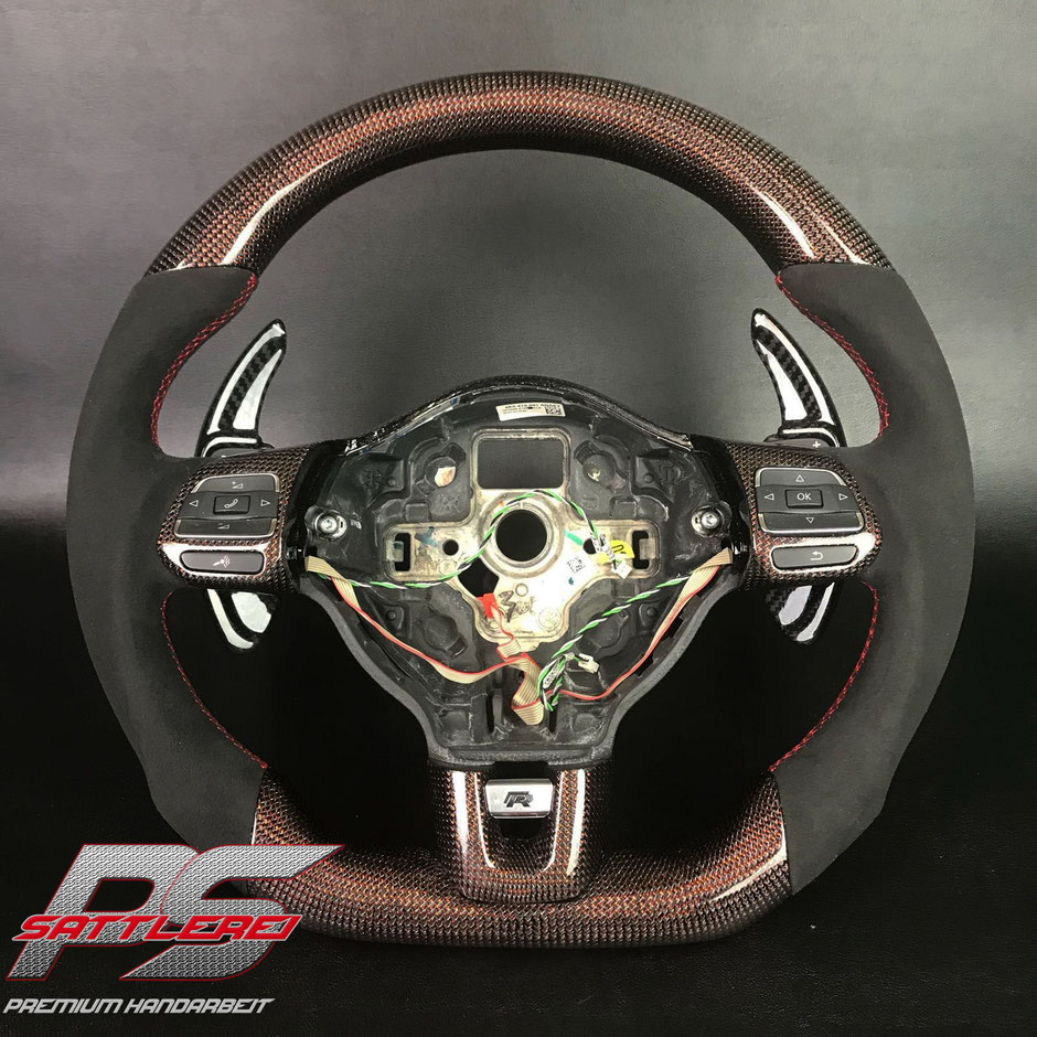 Golf GTI Red Carbon Steering wheel