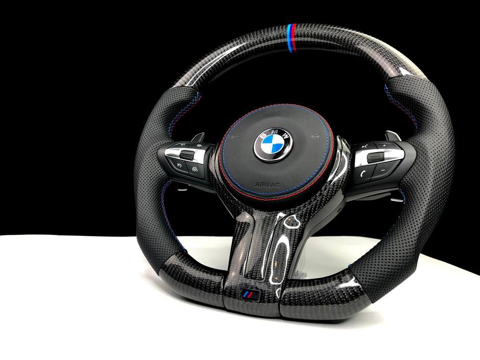 BMW M5 Carbon Nappaleder Lenkrad mit M-Nähten
