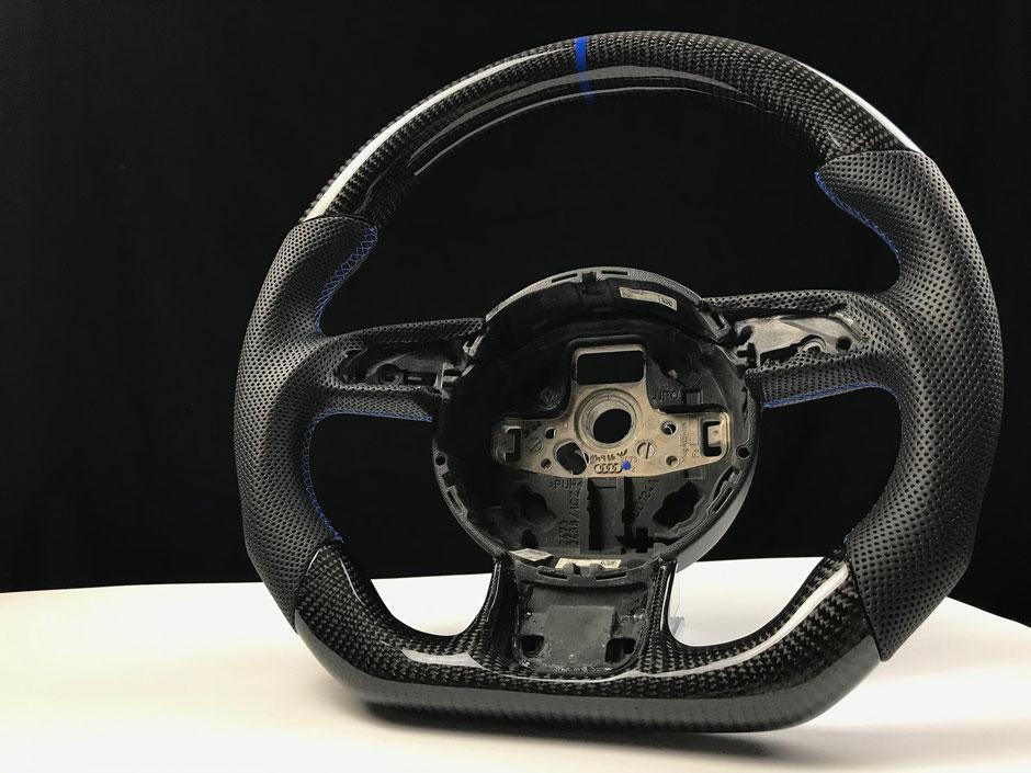 Audi 8V RS4 Carbon lenkrad mit blauer 12 Uhr Markierung