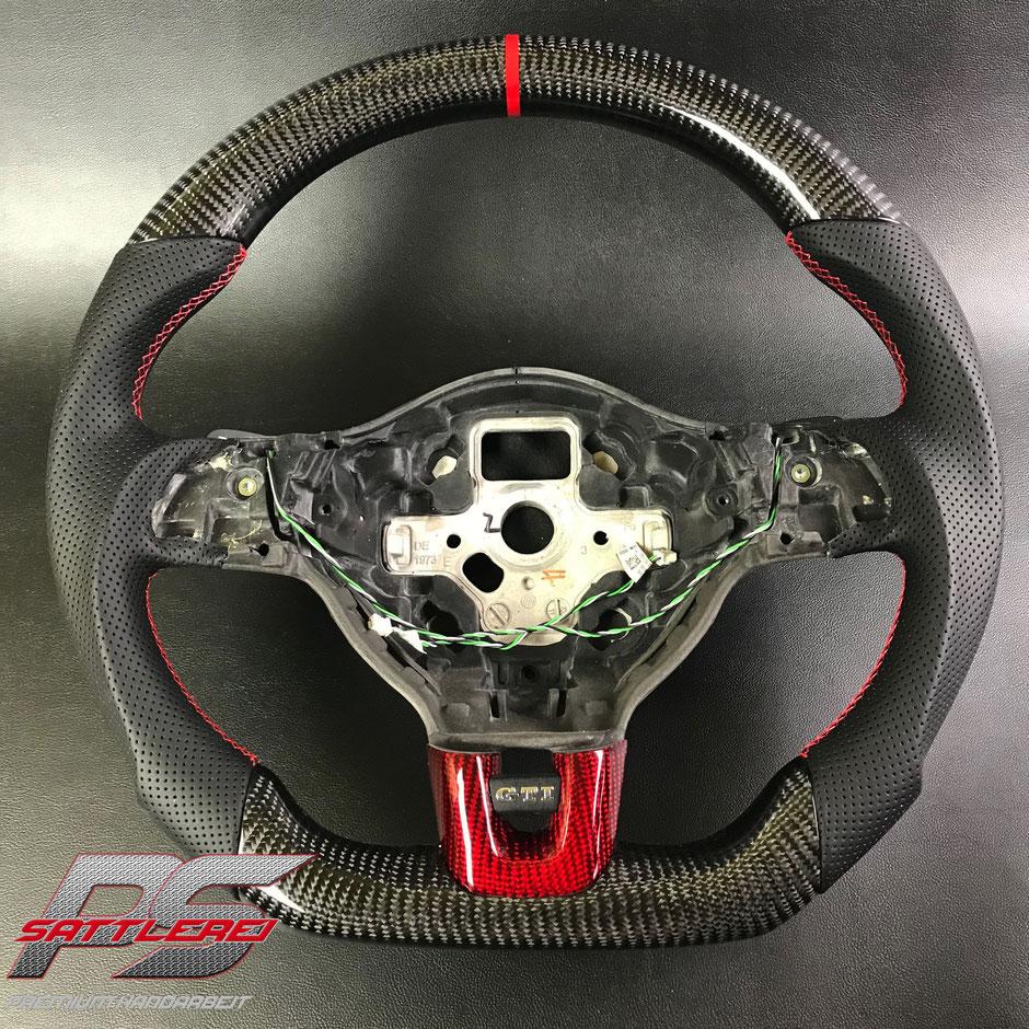 Golf 6 GTI rotes Carbon Lenkrad