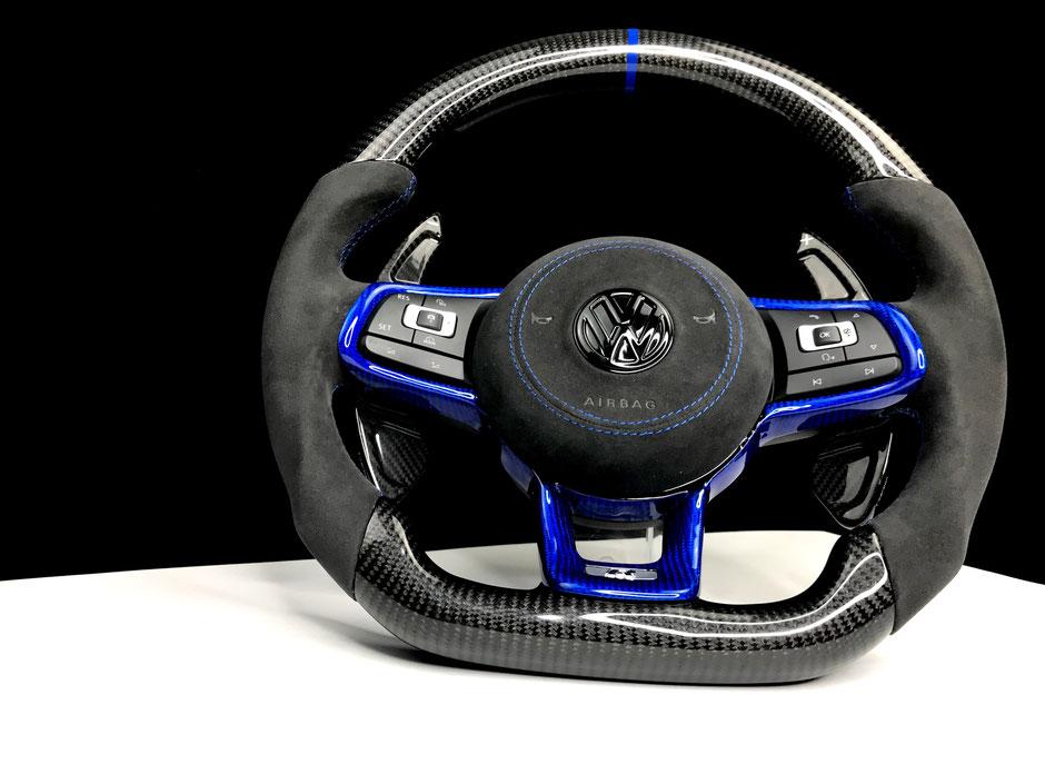 Golf 7R blaue Carbon Spange